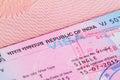 Republic of India visa Royalty Free Stock Photo