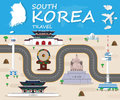 Republic Of Korea Landmark Global Travel And Journey Infographic Royalty Free Stock Photo
