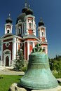 Republic of moldova curchi monastery ancient bell cast im kharkov in century Stock Image