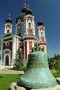 Republic of moldova curchi monastery ancient bell cast im kharkov in century Stock Image