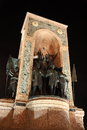 Republic monument on taksim square istanbul in showing turkey s founder mustafa kemal ataturk Stock Image
