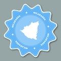 Republic of Nicaragua map sticker in trendy.