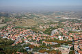 Republic of san marino top view on houses and suburbs Royalty Free Stock Photos