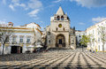 Republic Square in the town of Elvas and Cathedral of Our Lady o Royalty Free Stock Photo