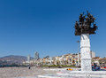 Republic tree monument izmir turkey the was erected to commemorate the th anniversary of becoming a the depicts Royalty Free Stock Images
