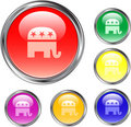 Republican Button Royalty Free Stock Photos