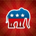 Republican political party animal Royalty Free Stock Photo