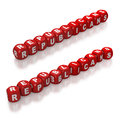 Republican political party represented with red dice on white background Stock Photography