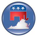 Republican Virginia Button Royalty Free Stock Photos