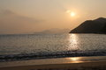 Repulse bay beach in hong kong china Stock Photos