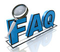 Request faq in the design of the information related to the search for answers Stock Photos