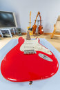 Res stratocaster guitar teenagers bedroom Royalty Free Stock Images