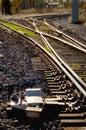 Resa med tåg strömbrytarespår Royaltyfria Bilder