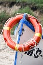 Rescue boat with lifebuoy Royalty Free Stock Photo