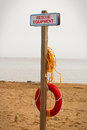 A rescue equipment station at a public beach Royalty Free Stock Photo