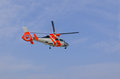Rescue helicopter patrol to world class aeromedical search and Royalty Free Stock Photo