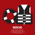 Rescue item sign vector illustration Stock Photo