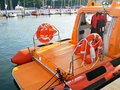 Rescue motor boat Royalty Free Stock Photography
