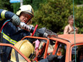 Rescue operation at autoaccident Royalty Free Stock Photo