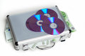 Rescue package money case with dvd s Stock Image