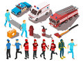 Rescue Service Isometric Set