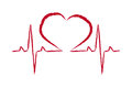 Rescue symbol heart pulse vector