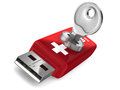 Rescue usb flash drive white background d image Stock Photography