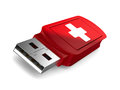 Rescue usb flash drive on white background d image Stock Photography