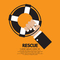 Rescue vector illustration hand holding Royalty Free Stock Photo