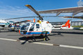 Research helicopter Eurocopter MBB Bo105 by German Aerospace Center (DLR) Royalty Free Stock Photo