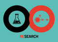 Research  icons for infographics Stock Image