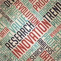 Research innovation vintage wordcloud see my other works in portfolio Royalty Free Stock Image