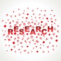 Research  word with in alphabets Stock Images