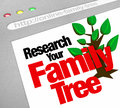 Research Your Family Tree Online Website Research Database Royalty Free Stock Photo