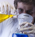 Researcher in the laboratory Royalty Free Stock Photos