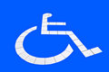 The Reserved car park for handicapped Royalty Free Stock Images