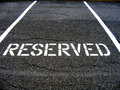 Reserved for car parking Royalty Free Stock Photo