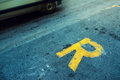 Reserved car parking spot Royalty Free Stock Photo