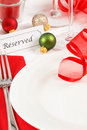 Reserved Christmas Table Setting Royalty Free Stock Photo