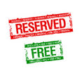 Reserved and free stamps Stock Photo