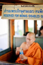 Reserved for monks disabled seat Royalty Free Stock Photo