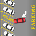 Reserved Parking business success car Royalty Free Stock Photography