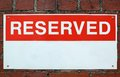 Reserved sign Royalty Free Stock Photo
