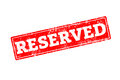 RESERVED written on red rubber stamp Royalty Free Stock Photo