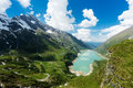 Reservoir in the alps beautiful landscape at kaprun hohe tauern Royalty Free Stock Photography