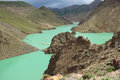 The reservoir is called manla is a of tibetan plateau it is not a lake Royalty Free Stock Images