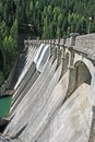 Reservoir dam for electricity generation with clean Royalty Free Stock Photo