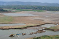 Reservoir dries in wonogiri Royalty Free Stock Photo