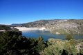 Reservoir, Las Alpujarras, Andalusia, Spain. Stock Photography