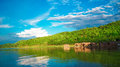 Reservoir in loei thailand for relaxation Stock Images